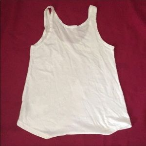 Sundry Tops - Sundry stars at front white tank top size 2